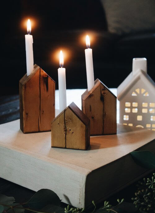 свечи для интерьера хюгге