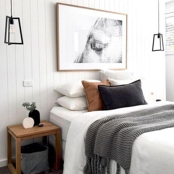 интерьер маленькой спальни в стиле хюгге