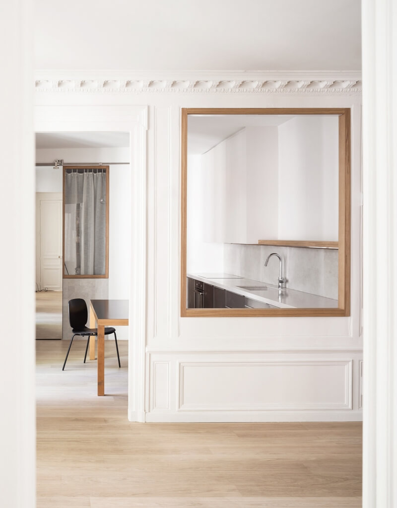 минимализм в интерьере квартиры в Париже