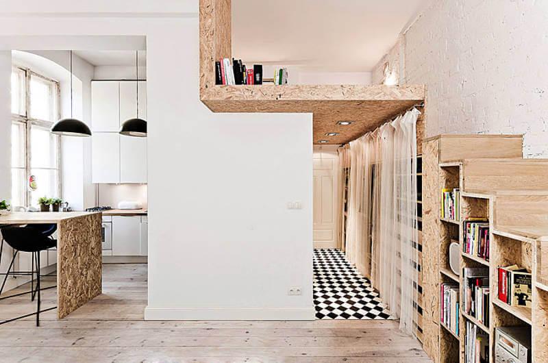 маленькая квартира студия во Вроцлаве