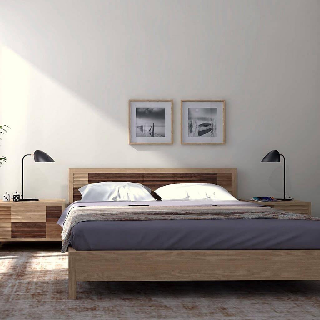 кровати из дерева дизайнерские, дизайнерская кровать из массива дерева фото