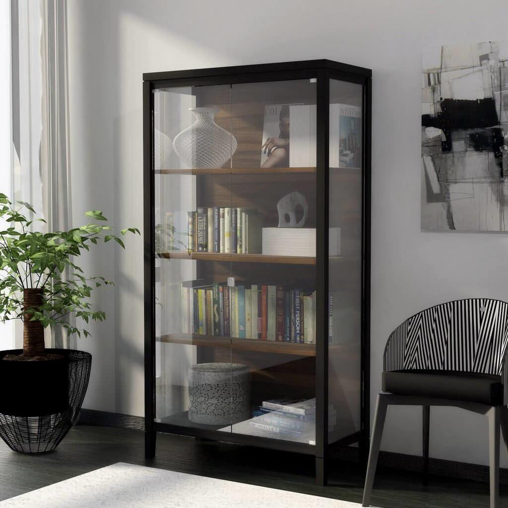 дизайнерские шкафы витрины для гостиной