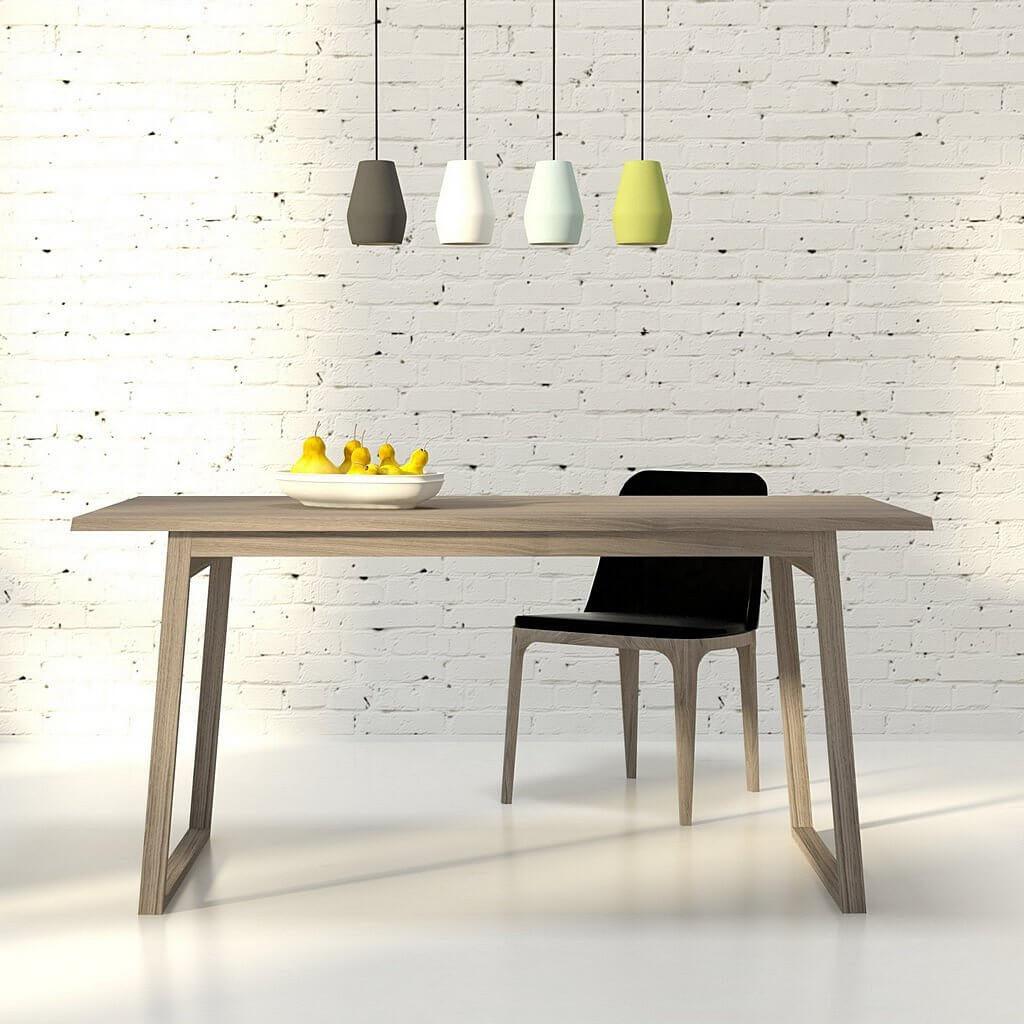 Дизайнерский рабочий стол Олле из дуба