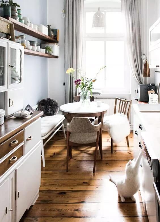 стиль хюгге в интерьере кухни