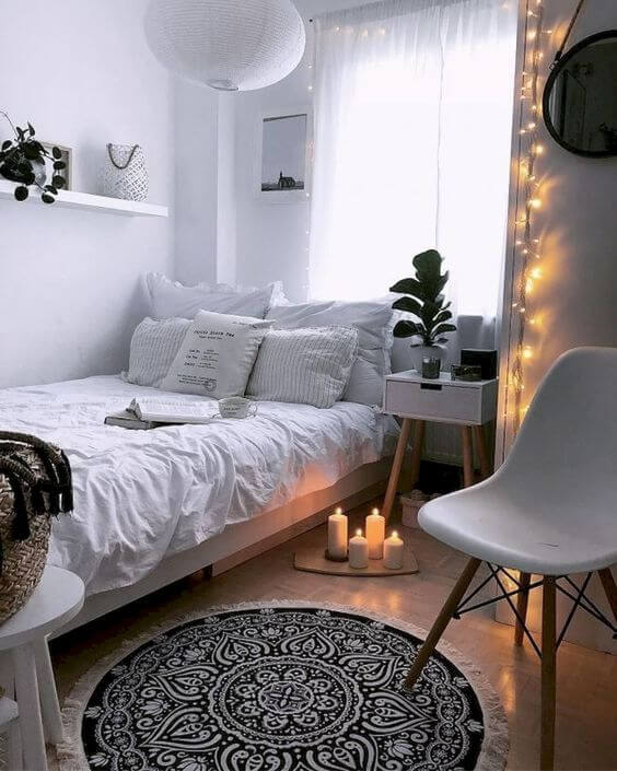 интерьер спальни в стиле хюгге