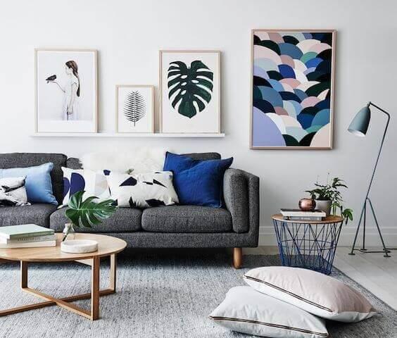 Декор в скандинавском стиле в интерьере гостиной