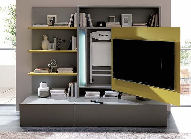 комбинированная мебель для небольшой комнаты