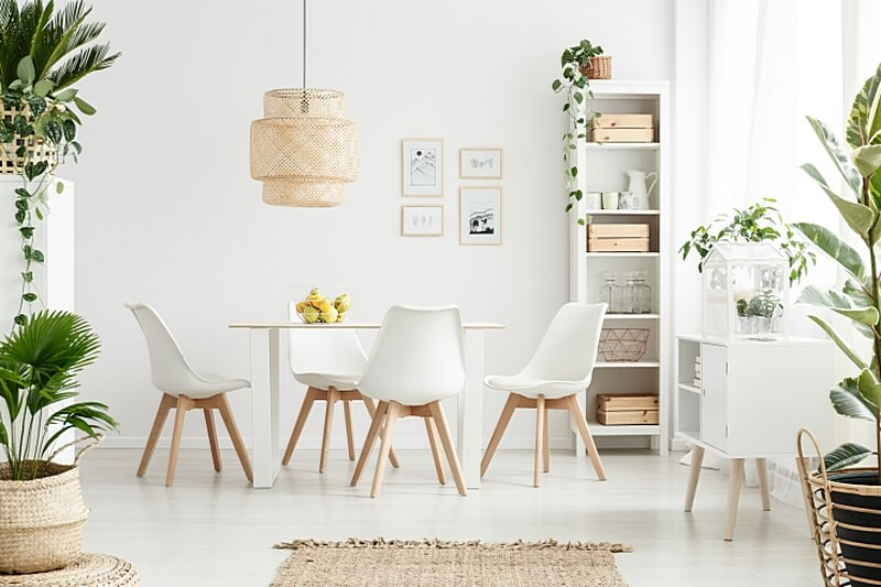 мебель и дерево в интерьере hygge